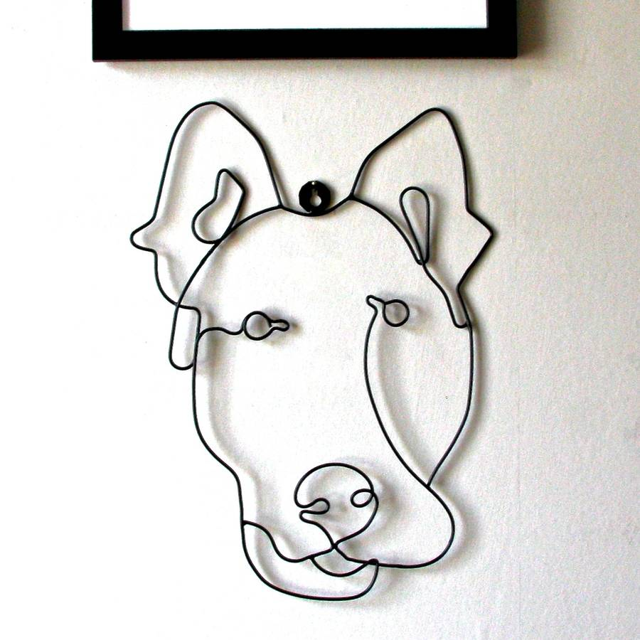 Dog wire wall art by london garden trading for Dog wire art