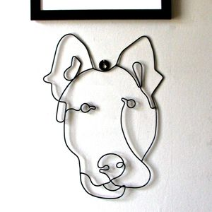 Dog Wire Wall Art - sculptures