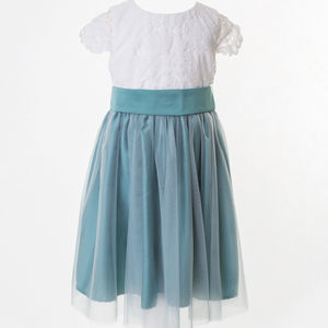 Lace And Tulle Flower Girl Dress In 35 Colours