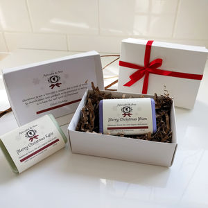 Personalised Organic Christmas Soap With Gift Box