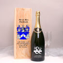 Mr And Mrs Magnum Champagne With Family Crest Box