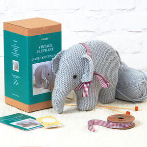 Vintage Elephant Simple Knitting Kit