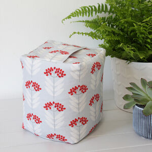 Elderberry Pattern Print Fabric Doorstop