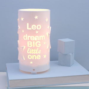 Personalised Dream Big Little One Star Night Light