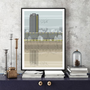 Barbican Architectural Illustration Print - drawings & illustrations