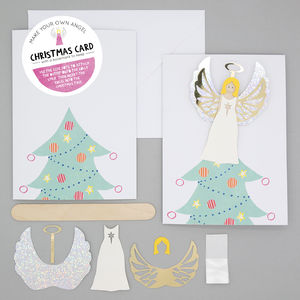 Make Your Own Angel Christmas Card With Bookmark