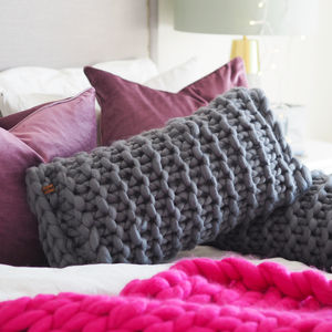Chunky Knit Rectangular Cushion - cushions