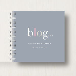 Personalised Blogger's' Small Notebook