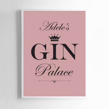 Personalised Gin Print Sign