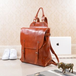 College Leather Backpack Bookpack - summer sale
