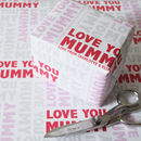 Personalised Mother's Day Wrapping Paper