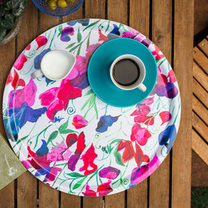 Sweetpea Melamine Tray - trays