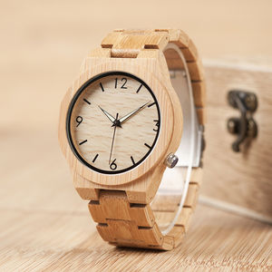 Bobo Bird Handcrafted Sandalwood Watch - men's accessories