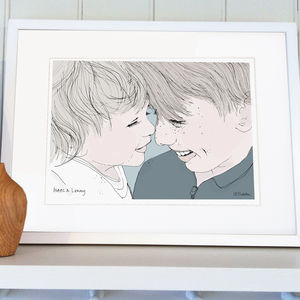 Personalised Family And Friends Portrait