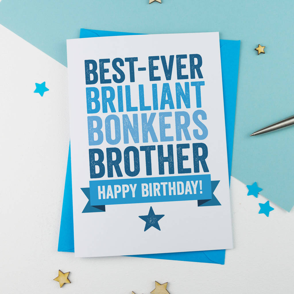 personalised birthday card for brother by a is for alphabet