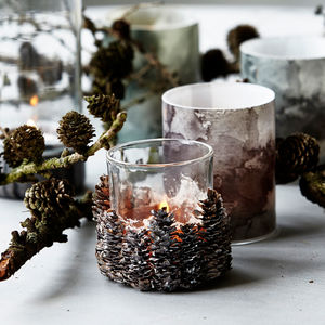 Pinecone Tea Light Holder - christmas home