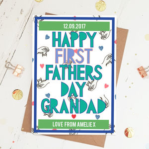 First Fathers Day Card For Grandad