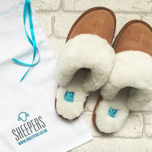 Chestnut Sheepskin Slippers - shoes