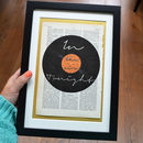 Personalised Vinyl Record Name Print