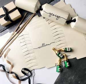 Personalised Handwritten Christmas Crackers - christmas stationery