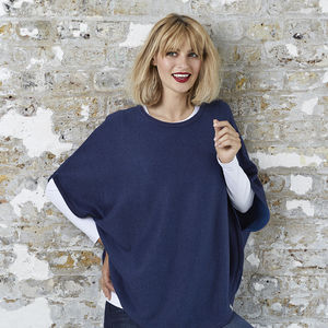 Flora Reversible Cotton Cashmere Poncho