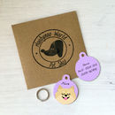 Personalised Pet Name ID Tag