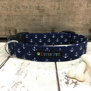 Hello Sailor Nautical Dog Collar