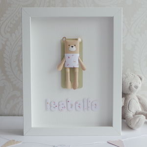 Personalised Framed 3D Paper Bear - shop by price