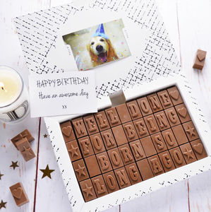 Personalised Chocolate Card In An Extra Large Box