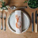 printed orange turnip vegetable napkin place setting