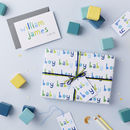 Baby Boy Wrapping Paper Set and Card