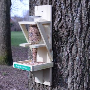 Personalised Bird Seed Bottle Feeder - bird feeders