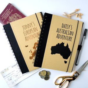 Personalised Travel Journal - gifts for her sale