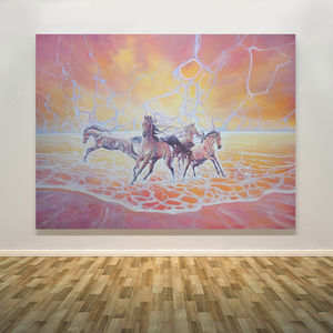 Elemental A Sunset Seascape With Horses