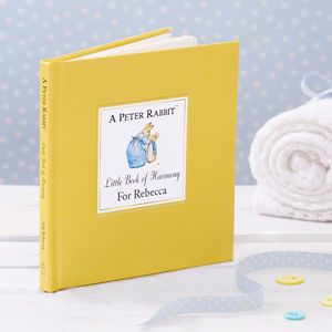 Peter Rabbit's Personalised Little Book Of Harmony - christening gifts