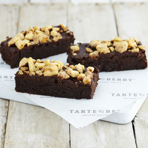 Personalised Chocolate Honeycomb Brownie Box - foodie