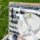 La Ciotat Nautical Striped Picnic Hamper For Two