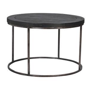 Hadley Charcoal And Pewter Round Coffee Table