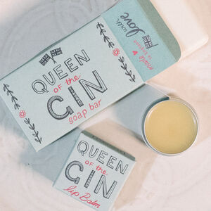 Queen Of Gin Soap Bar And Lip Balm Duo