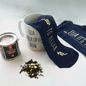 Personalised Time To Relax Gift Hamper - mugs