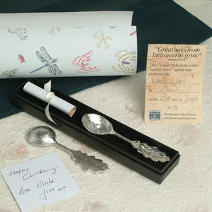 'From Little Acorns' Christening Spoon Personalised - kitchen