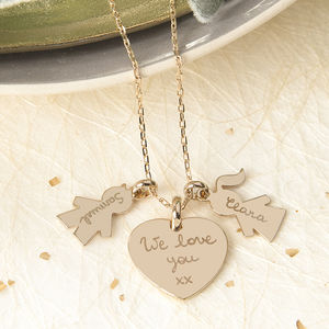 Personalised Family Charm Necklace - children's jewellery