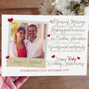 Personalised 40th Wedding Anniversary Photo Card