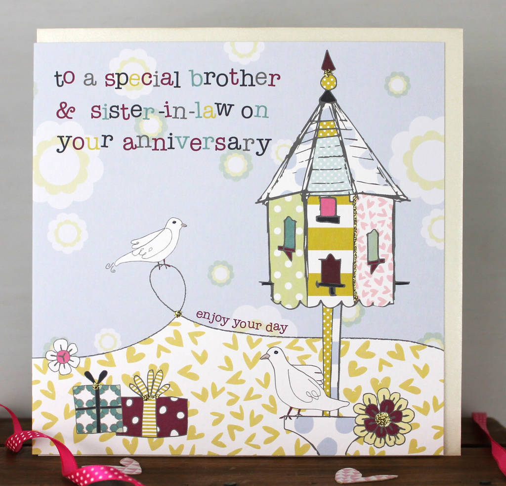 Brother And Sister In Law Anniversary Card