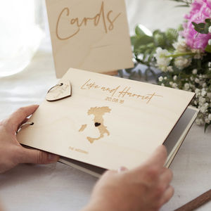 Personalised Destination Map Guest Book - albums & guest books