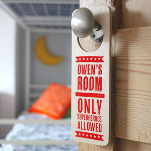 Personalised Wooden Doorhanger - children's room