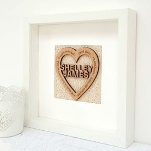 Wood Anniversary Personalised Oak Heart - what's new