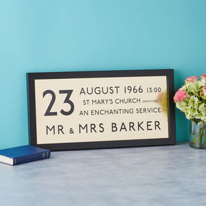Golden Wedding Anniversary Personalised Bus Blind