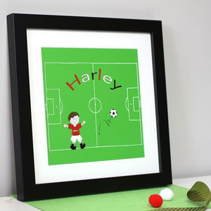 Personalised Football Team Name Art Print