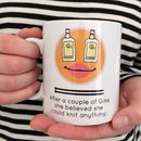 'Gin And Knitting' Knitting Mug